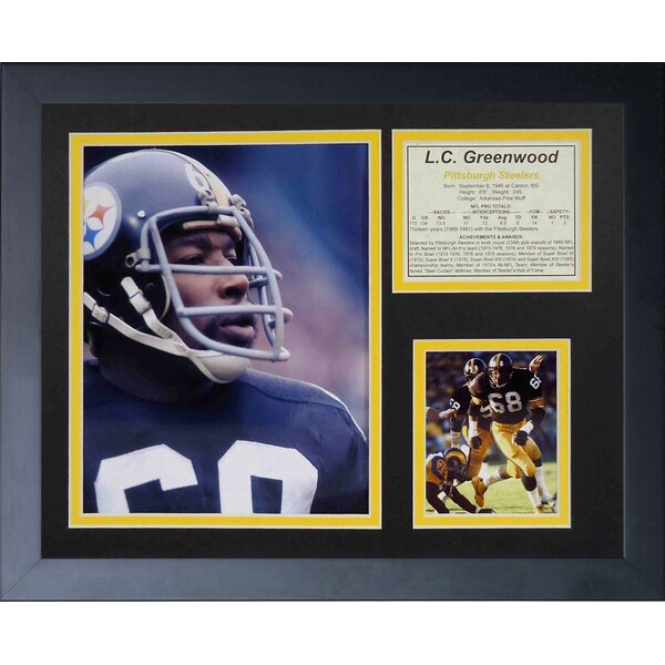 L.C. Greenwood Framed Memorabilia by Legends Never Die