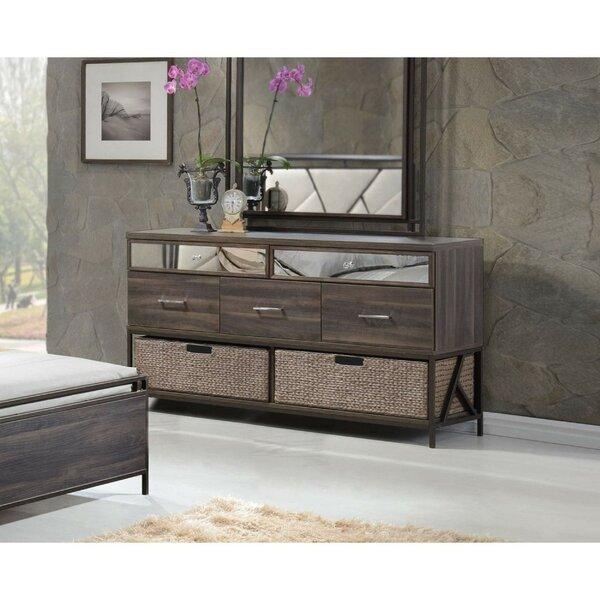 Pataskala Wood 5 Drawer Double Dresser by Ivy Bronx Ivy Bronx