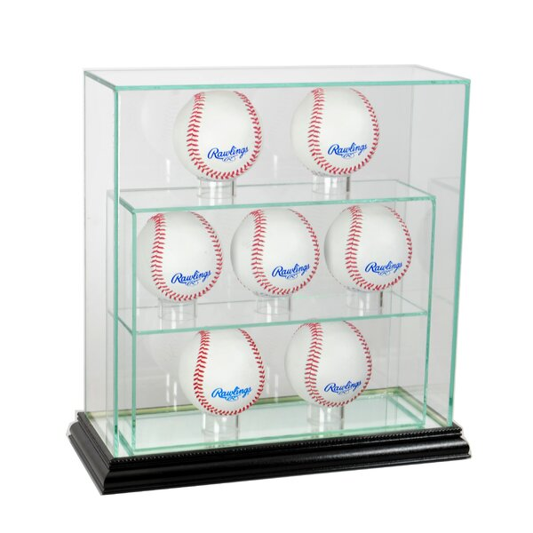 Seven Upright Baseball Display Case by Perfect Cases and Frames