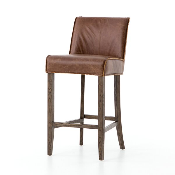 Ates Rustic Bar Stool by Foundry Select