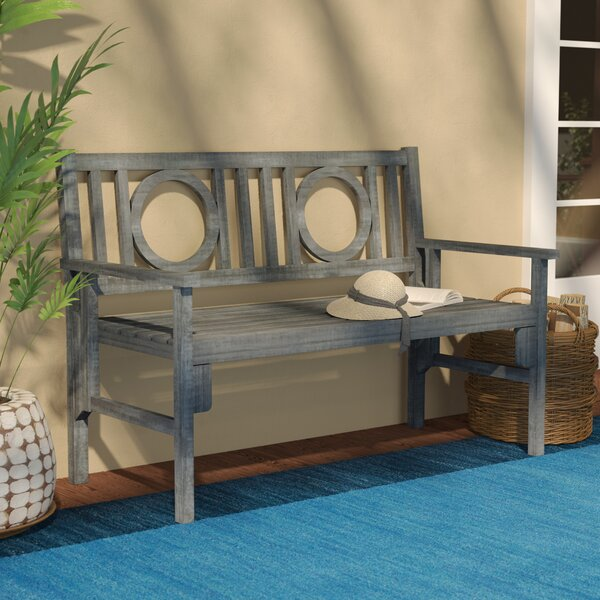Fort Lauderdale Wood Garden Bench by Beachcrest Home