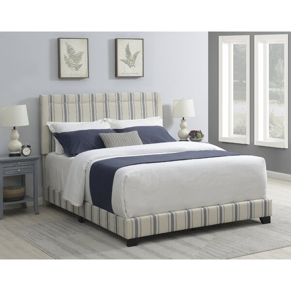 Poisson Nailhead Trim Upholstered Standard Bed by Lark Manor