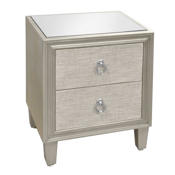 Apollonia Wood 2 Drawer Accent Cabinet by Rosdorf Park