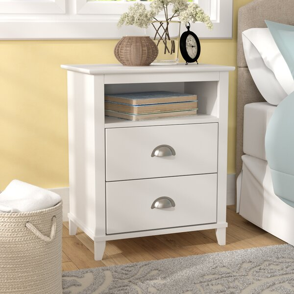Pembrooke Traditional 2 Drawer Nightstand by Beachcrest Home