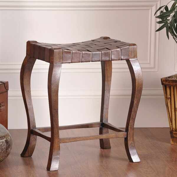Brochu Accent Stool by World Menagerie