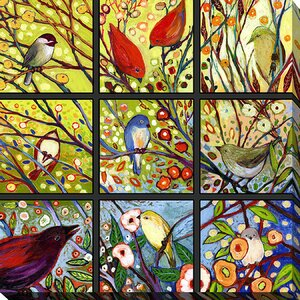 9 Birds I by Jennifer Lommers Painting Print on Wrapped Canvas by Picture Perfect International