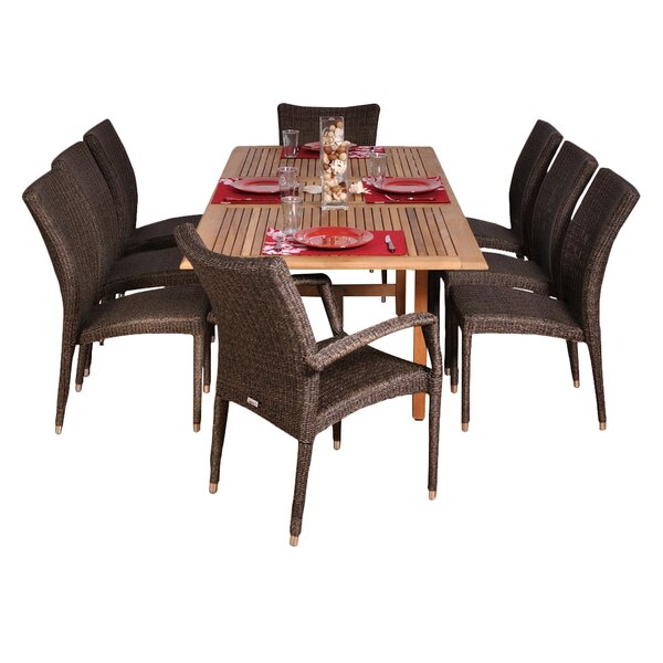 Tryston 8 Piece Teak Dining Set By Beachcrest Home