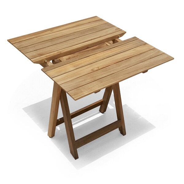Pedersen Folding Solid Wood Bistro Table by Bay Isle Home