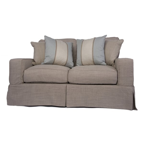Glenhill Box Cushion Loveseat Slipcover Set by Rosecliff Heights