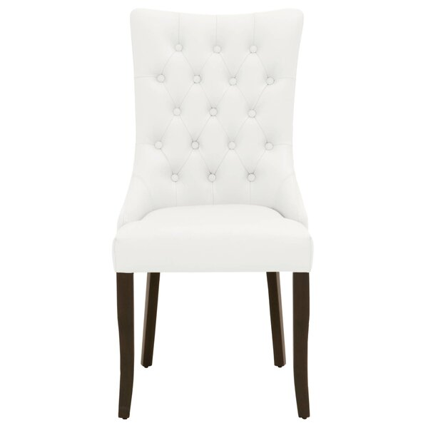 Crandell Genuine Leather Upholstered Dining Chair (Set of 2) by Darby Home Co