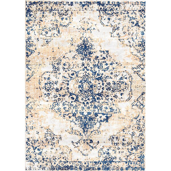 Aliza Handloom Blue/Ivory Area Rug by Bungalow Rose