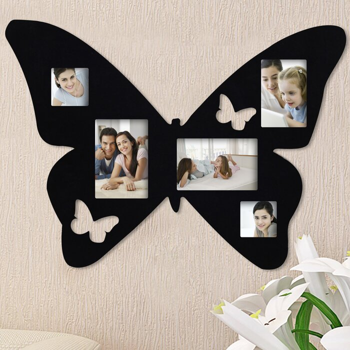 AdecoTrading 5 Opening Decorative Butterfly Wall Hanging Collage ...