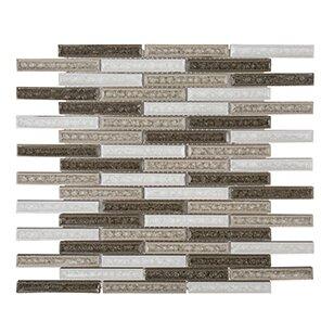 Misty Harbor 11.63 x 11.75 Calm Waters Mosaic Tile in Gray by Kellani