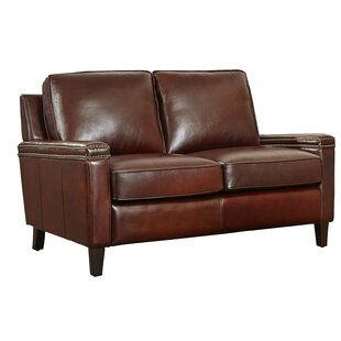 Klas Leather Loveseat 17 Stories