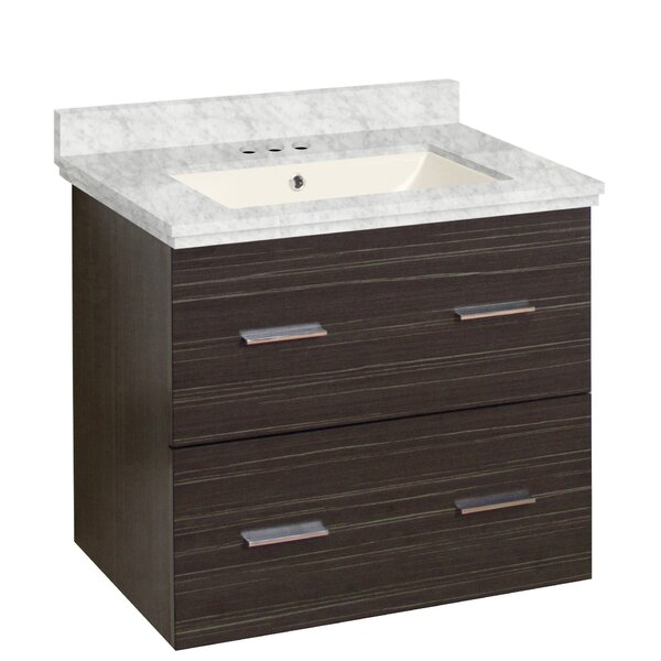 Hinerman 24 Wall-Mounted Single Bathroom Vanity Set