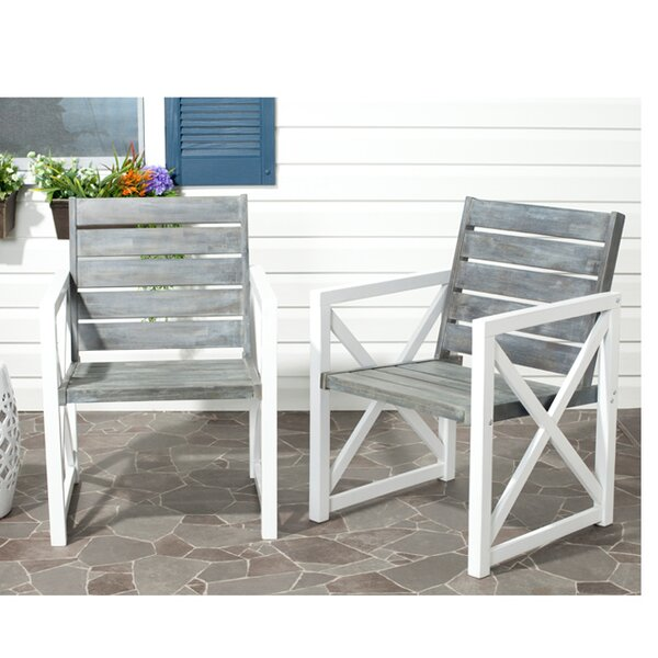 Schweigert Patio Dining Chair (Set of 2) by Laurel Foundry Modern Farmhouse
