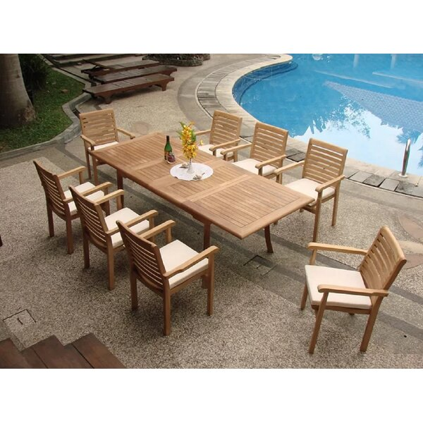 Forsyth Luxurious 7 Piece Teak Dining Set by Rosecliff Heights