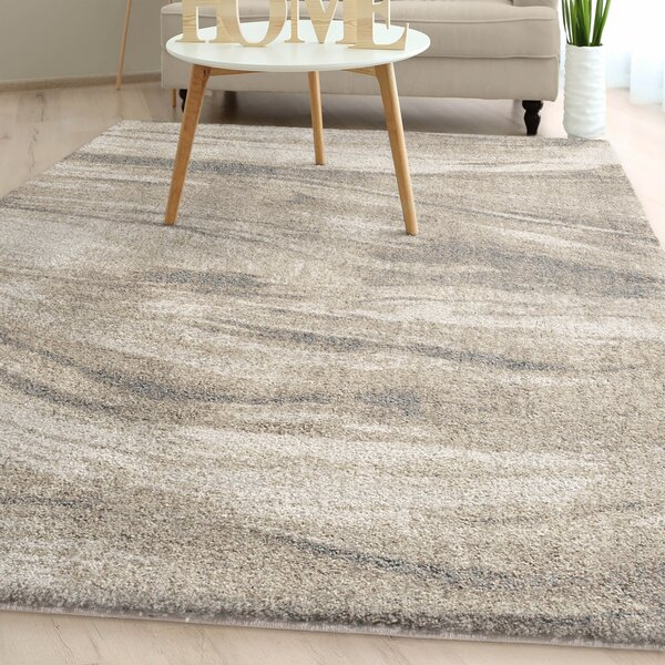 Shellenbarger Modern Plush Ivory Area Rug by Orren Ellis