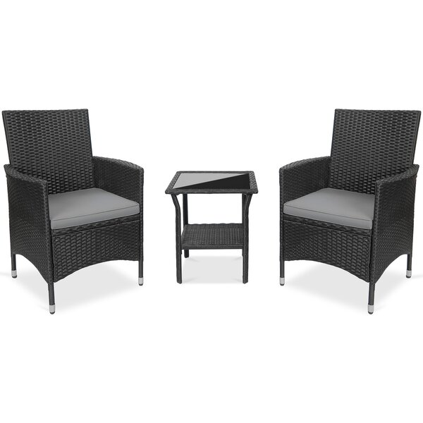 Montesino 3 Piece Seating Group With Cushion by Ebern Designs