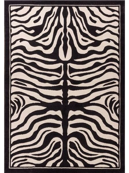 Marlow Zebra Print Black/White Indoor/Outdoor Area Rug by Bloomsbury Market