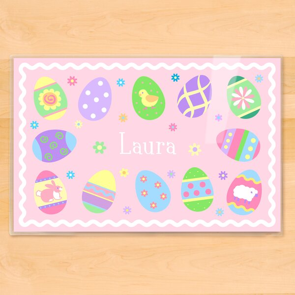 Easter Eggs Girls Personalized Placemat by Olive Kids