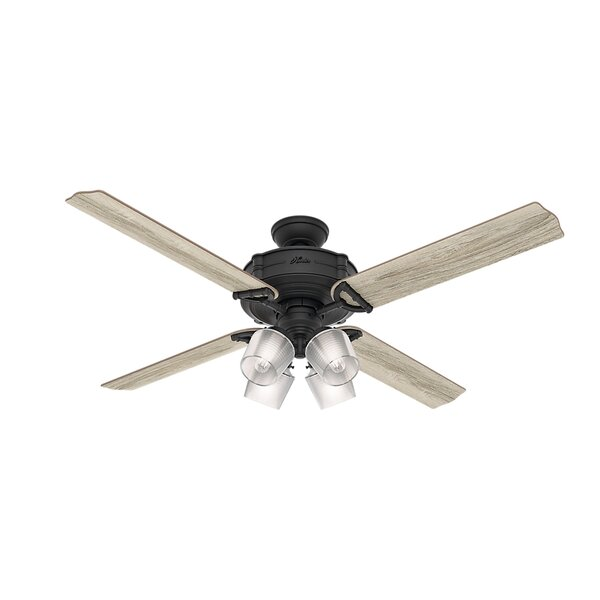 60 Brunswick Wi-Fi 4 Blade LED Ceiling Fan with Remote by Hunter Fan