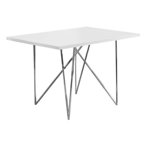 Haynes Metal Dining Table by Ebern Designs