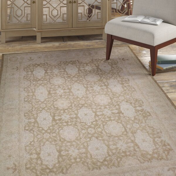 Hegarty Luxury Hand-Knotted Wool Beige/Earth Area Rug
