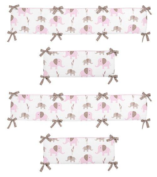 Mod Elephant Crib Bumper by Sweet Jojo Designs