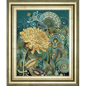 Inspired Blooms 1 by Conrad Knutsen Framed Graphic Art by Classy Art Wholesalers