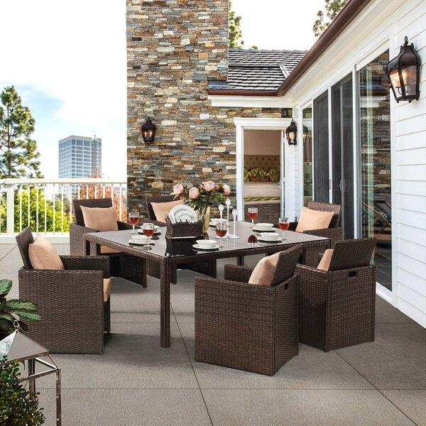 Deines 7 Piece Sofa Set with Cushions by Brayden Studio