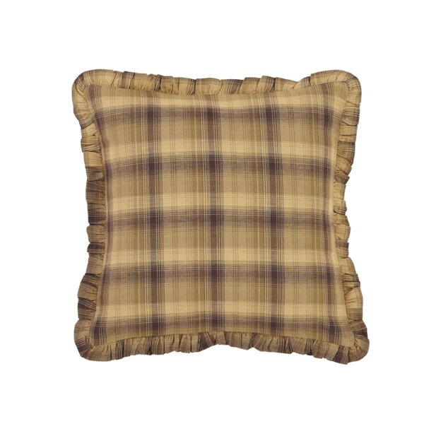Loris Ruffled Cotton Throw Pillow by August Grove