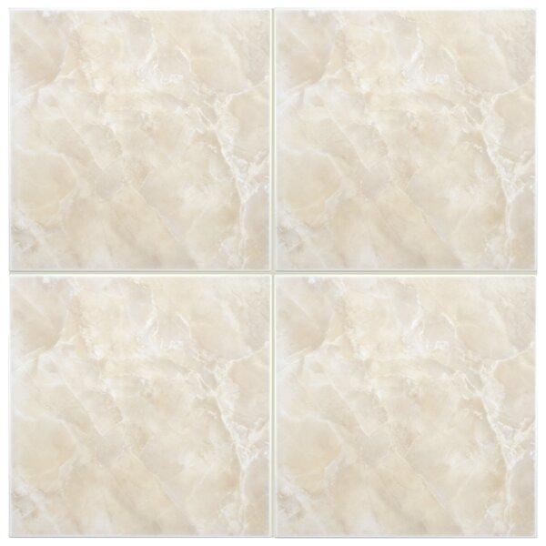 Alpha 11.75 x 11.75 Ceramic Field Tile in Beige/White by EliteTile