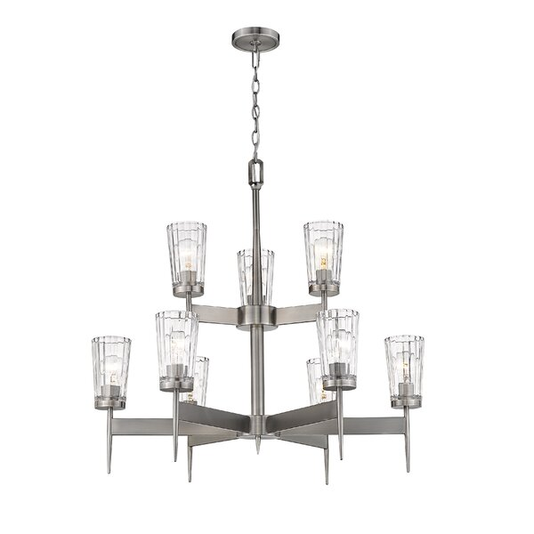 Andrade 9 - Light Shaded Tiered Chandelier By Breakwater Bay