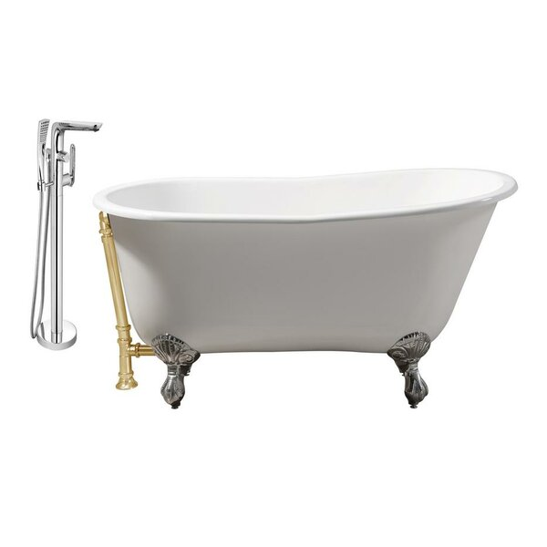 Cast Iron 53 x 28 Clawfoot Soaking Bathtub by Streamline Bath