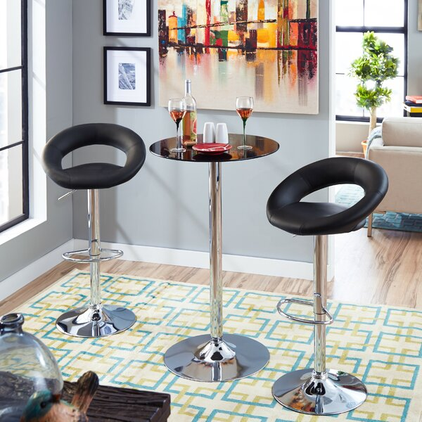 Adjustable Height Swivel Bar Stool by Zipcode Design