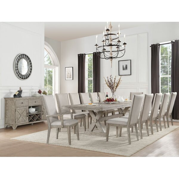 Denham 13 Pieces Extendable Dining Set by Gracie Oaks