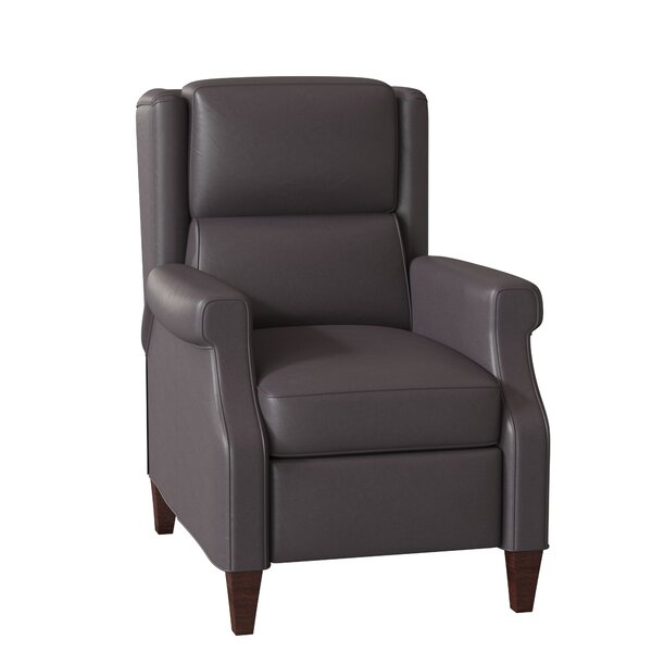 Patio Furniture Gallaway Leather Manual Recliner