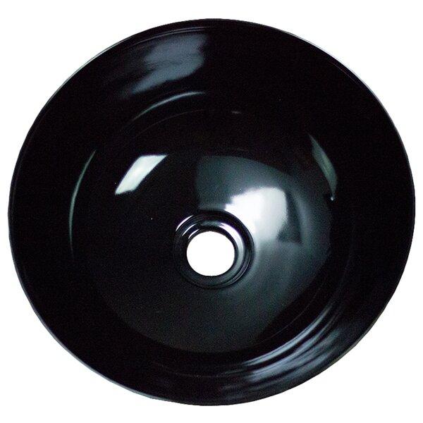 Ceramic Circular Vessel Bathroom Sink