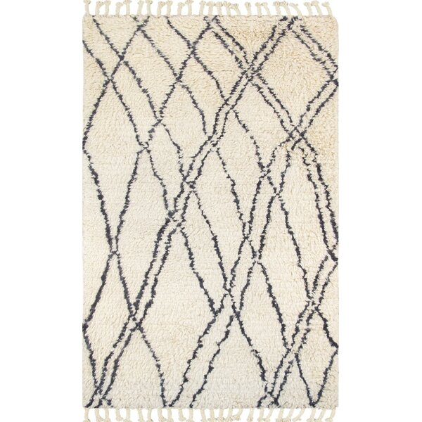 Moroccan Hand-Knotted Beige Area Rug by Pasargad