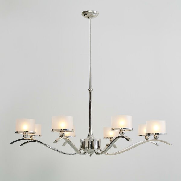 French 8-Light Shaded Classic / Traditional Chandelier by Global Views Global Views