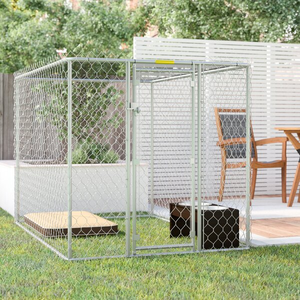 Derek Steel Chain Link Portable Yard Kennel by Archie & Oscar