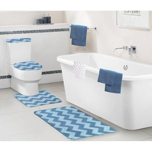Bohan Multiple Chevron 9 piece Bath Set