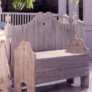 Wyton Wood Garden Bench by Rosecliff Heights