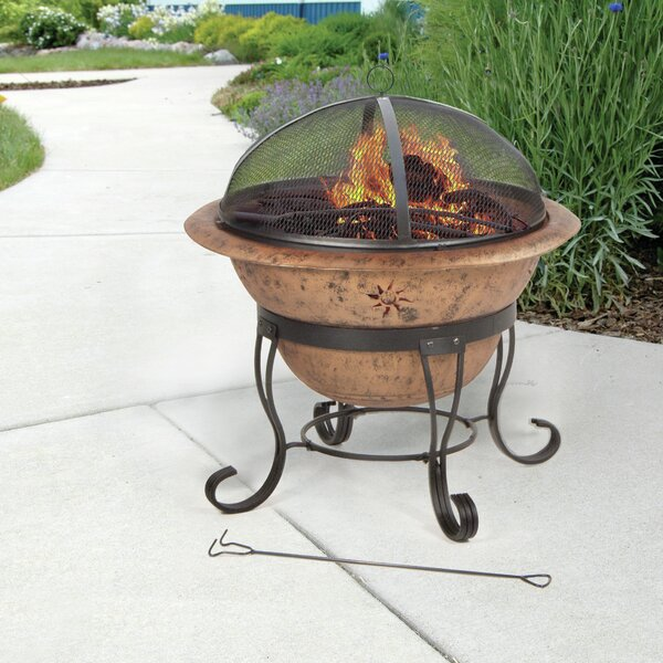 Soleil Steel Wood Burning Fire Pit by DeckMate