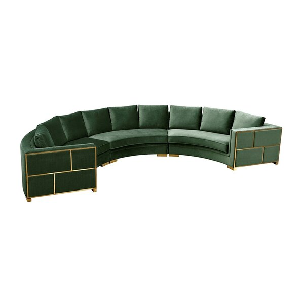 Pooler Modern Curved Sectional by Everly Quinn