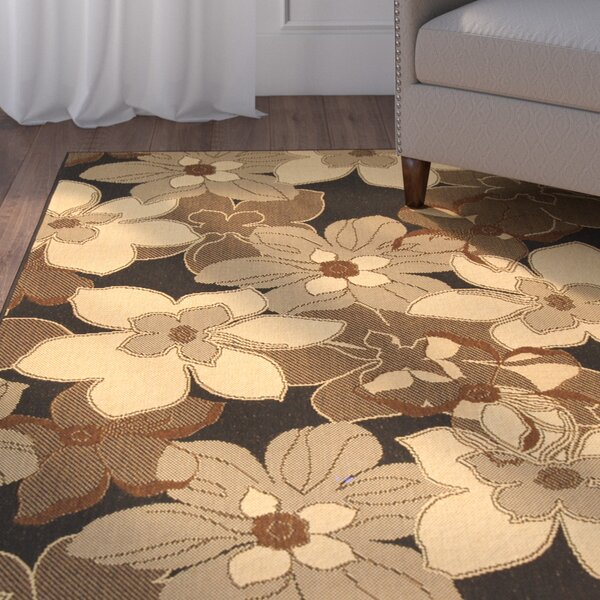 Rhinebeck Floral Brown/Tan Indoor/Outdoor Area Rug