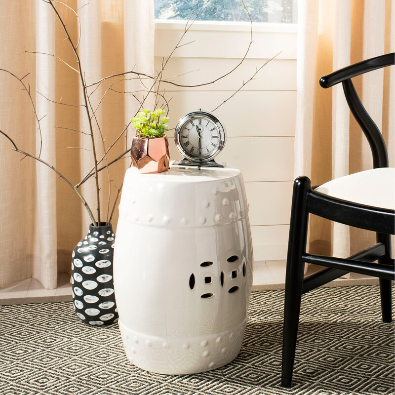 ceramic garden stool. Glazed Ceramic Garden Stool N