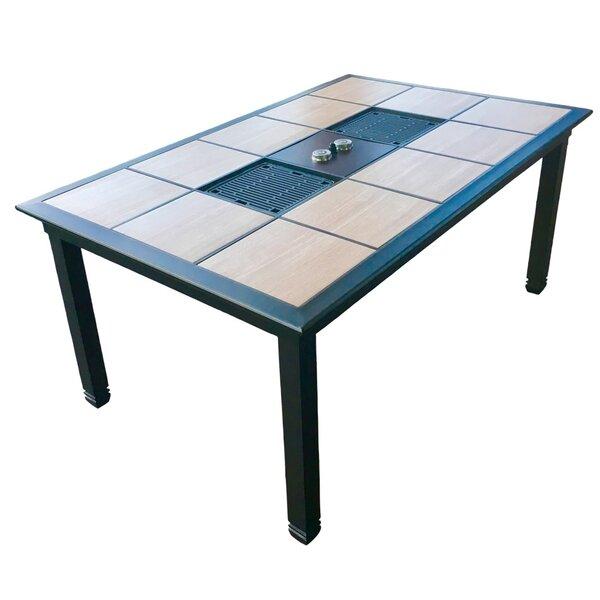 Wells Infrared Aluminum Dining Table by Brayden Studio