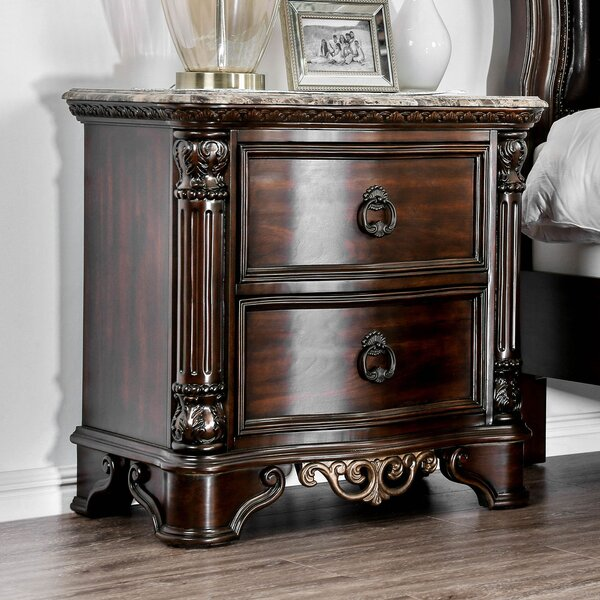 Dailey Traditional Wood 2 Drawer Nightstand by Astoria Grand